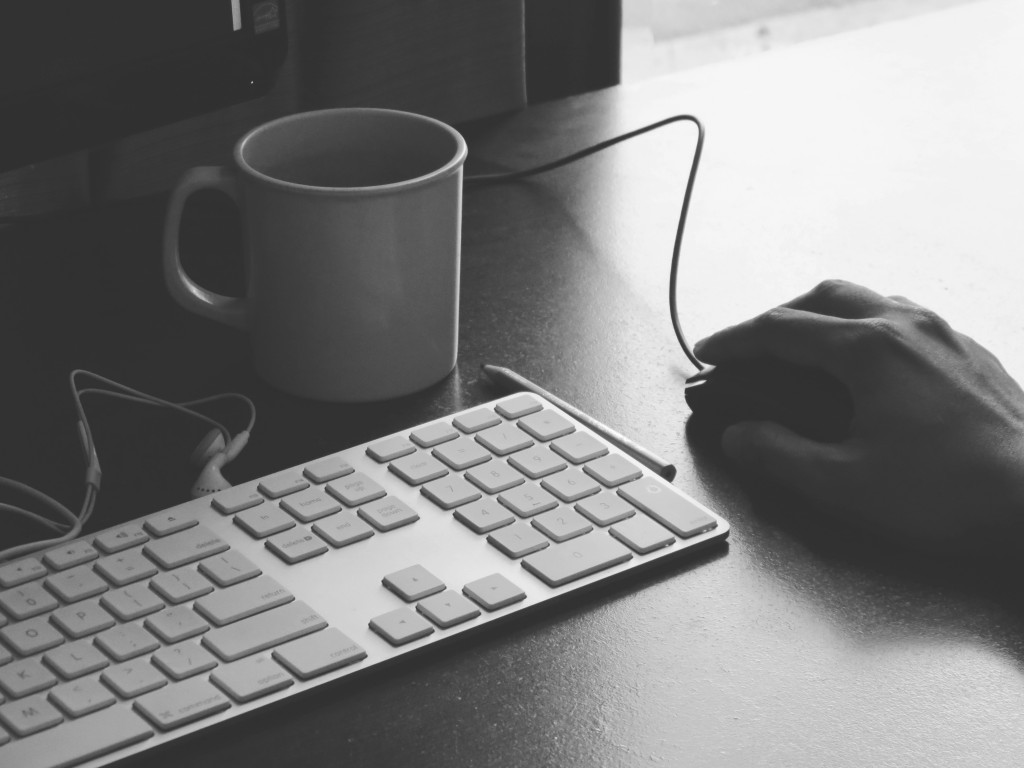 Keyboard and Coffee