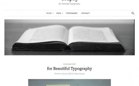 Graphy WordPress Theme